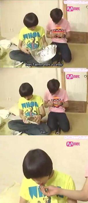 dramas kimchi SHINee Onew feeding Taemin
