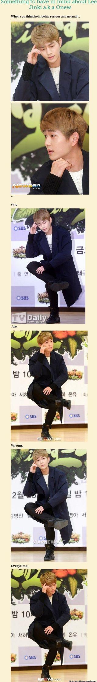 dramas kimchi SHINee Onew not serious